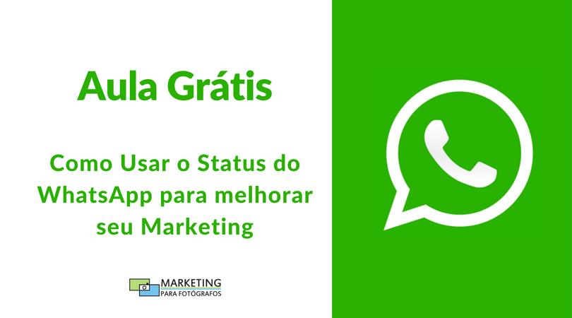 Aula status WhatsApp